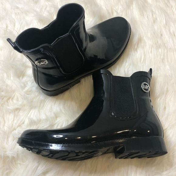 Michael Kors Black Short Rain Boots